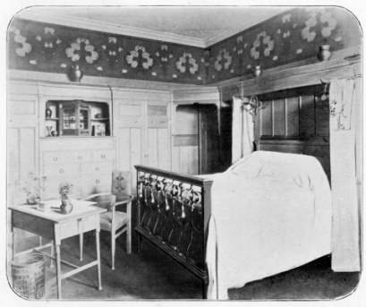 1902 bedroom with fitted furniture