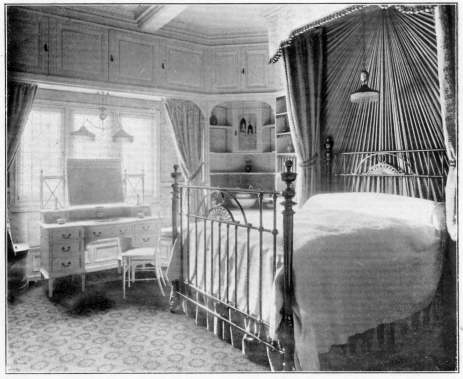 Bedroom on Edwardian Bedroom With Iron Bedstead And Spectacular Curtaining