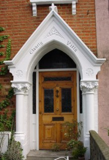 beautiful Gothic style porch, Finchley, London
