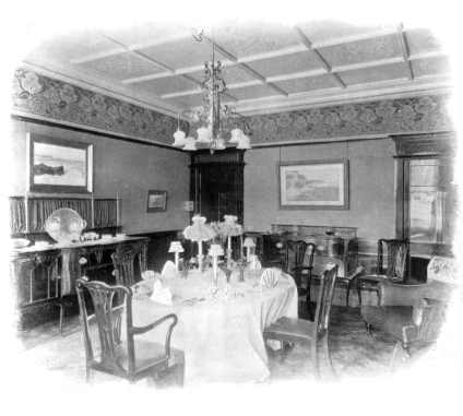 Chippendale-style Edwardian dining room