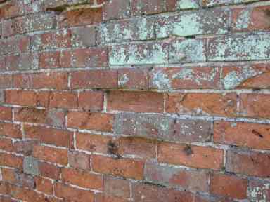 spalled bricks