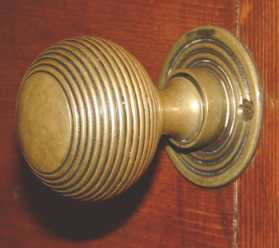 Edwardian reeded door knob