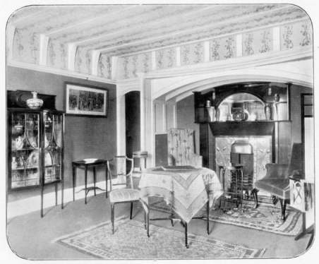 drawing room in a flat (1902)