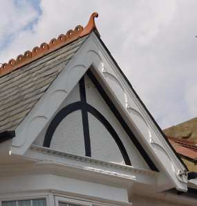 late-Victorian or Edwardian with applied moulding
