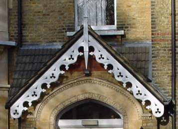 High Victorian porch gable