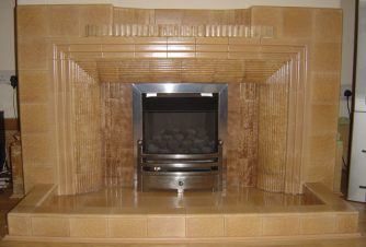 1920s or 1930s tiled fireplace