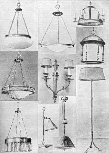examples of electric lights from the 1920s