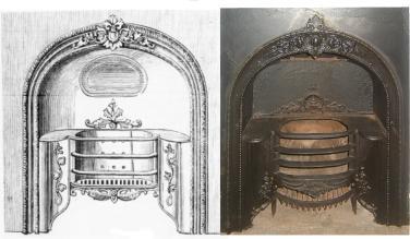 19th century hob grate