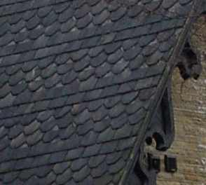 slate roofing bricks brass